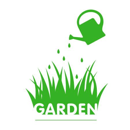 tuinontwerp: Garden design with  grass