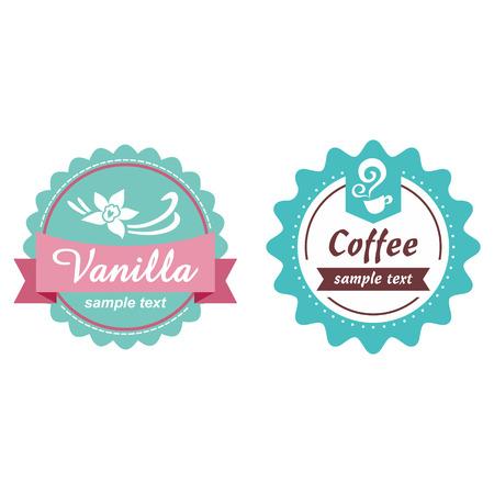 vanilla pudding: Etiqueta Vintage Vectores
