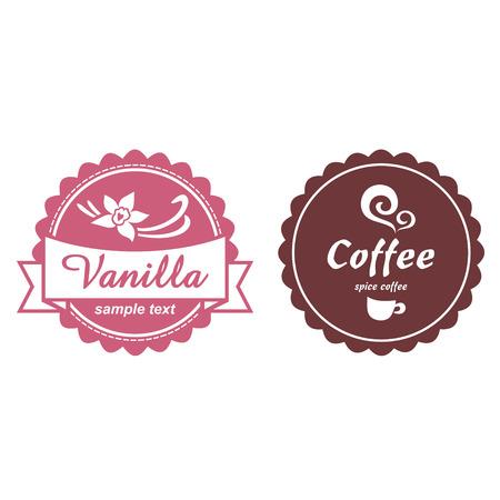 coffee hour: Vintage label. Illustration