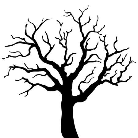 Tree silhouette isolated Vektorové ilustrace