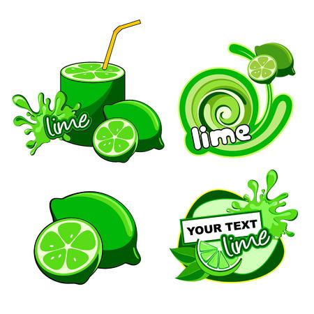 pistachios: Fruit labels design  Vector lime