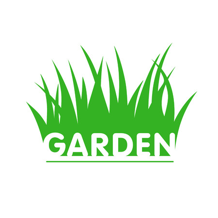 tree grass: customizable garden sign with grass Illustration