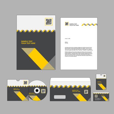 headed: Template for Business artworks Illustration