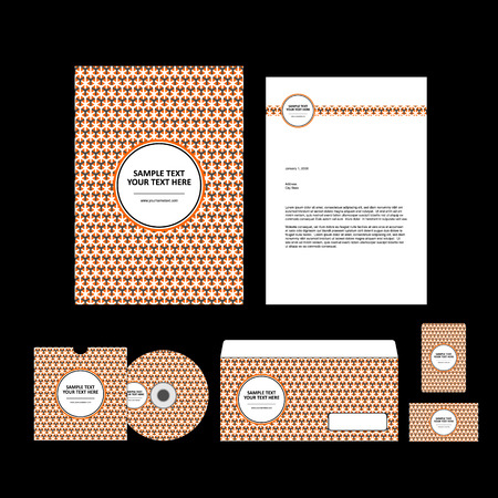 business template: Business template. Illustration