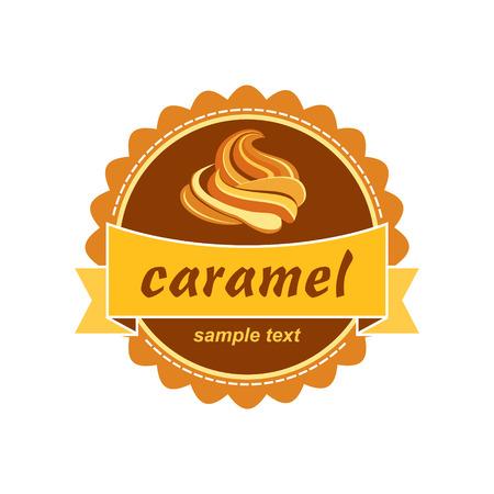 Caramel label design.