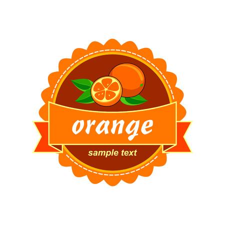 Fruit fresh labels. Vector