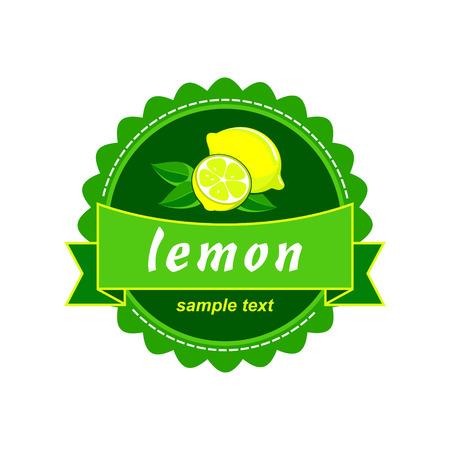 milky: Vector lemon fresh labels.