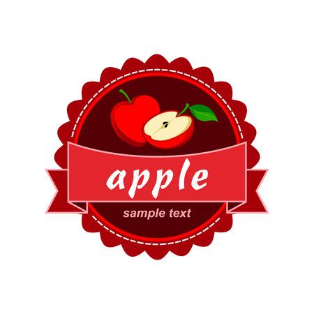 apple juice: Apple vector label design.