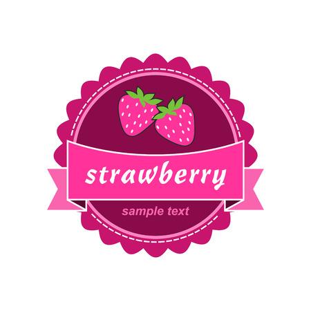Strawberry labels design.  Vector