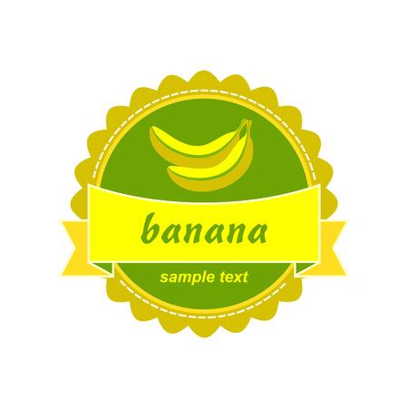 etiquette: Banana labels design
