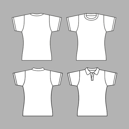football jersey: T-shirt woman back and front. Illustration