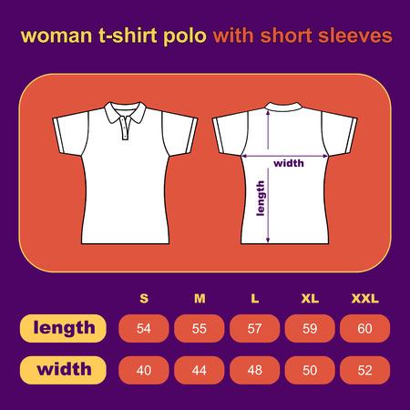 T-shirt woman. Vector