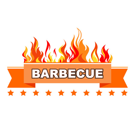 Vintage Style Barbecue stamps. Illustration