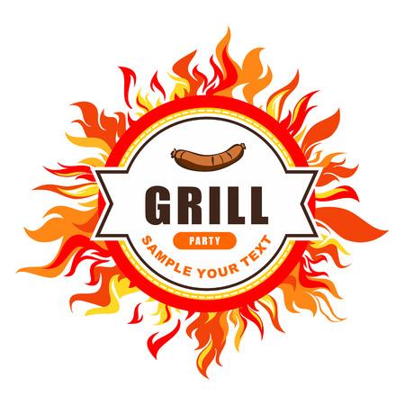 grill menu Иллюстрация