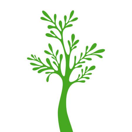 bareness: Tree green silhouette Illustration