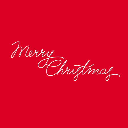 title hands: Merry Christmas Vector Calligraphic Lettering.