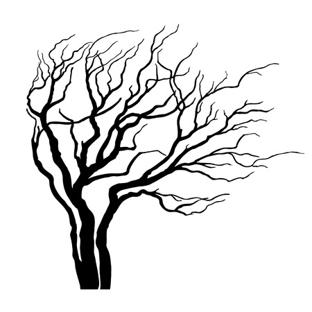 Tree with branches in the wind