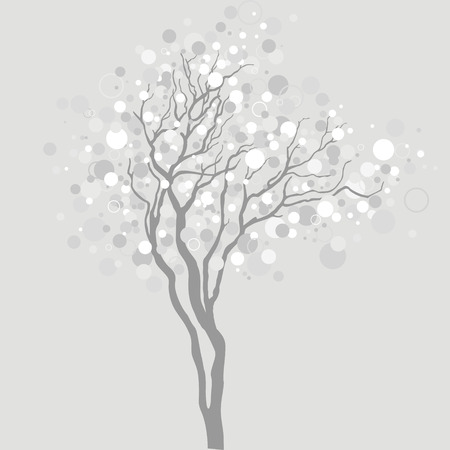 bareness: vector tree with light bubbles in branches