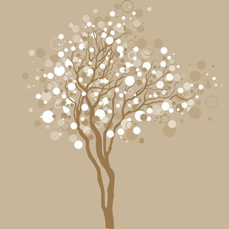 tree outline: Vector tree illustration  Illustration