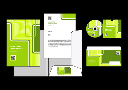 letter head: corporate identity templates