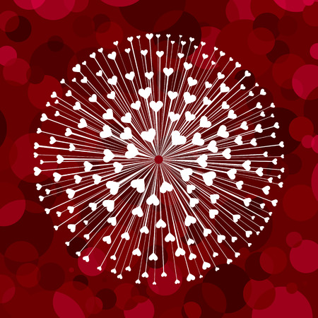 valentin: Valentines composition of the hearts. Illustration