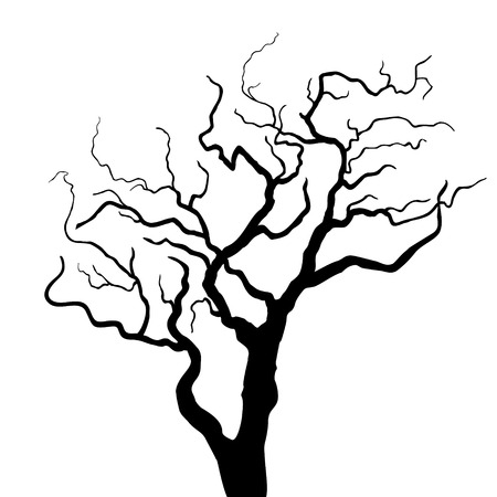 bareness: Vector tree silhouette Illustration