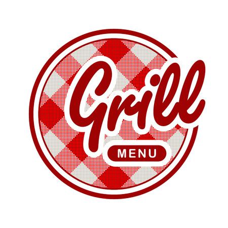 Grill menu Vector