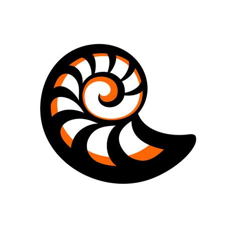 Simple d'orange coquille de mer noire