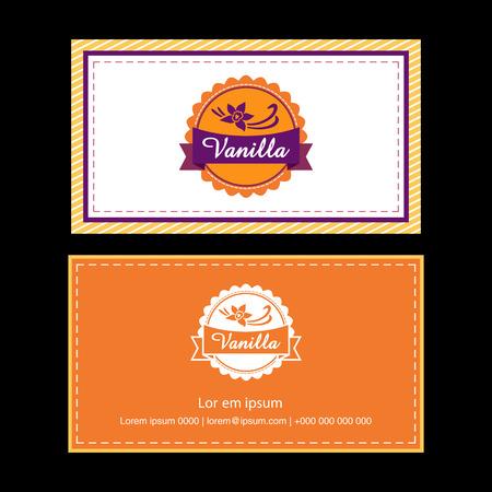 Business Card templates on black background. Vector illustration.
