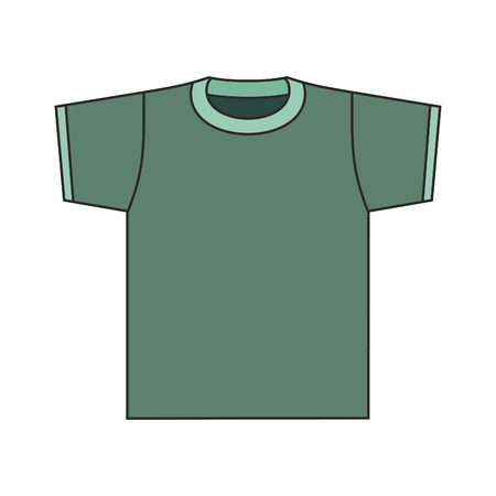 vector green shirt illustration. Illustration