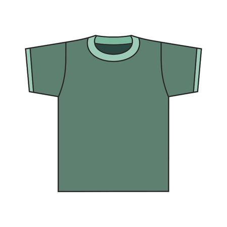 vector green shirt illustration. Illustration