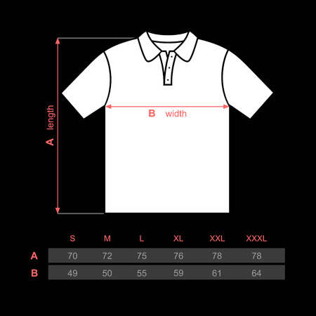 Men t-shirt polo with short sleeves 일러스트