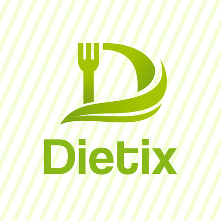 Letter D creative diet logo. Illustration