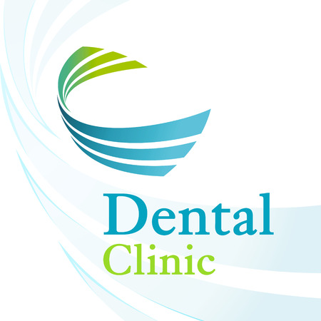 Dental clinic logo with dynamic elements
