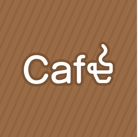 cafe latte: Creative cafe logotype with modified coffe cup Illustration