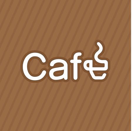 logo de comida: Logotipo del café creativo con la taza de café modificada