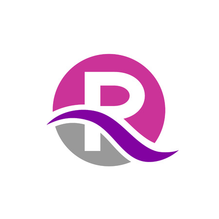 Vector R letter symbol