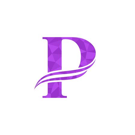 Letter P icon design template vector illustration. 일러스트