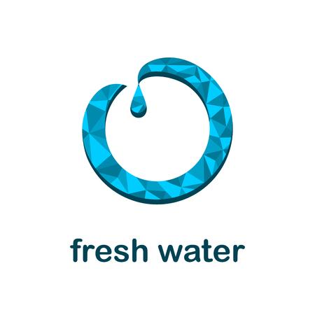 Fresh water icon concept vector illustration design.