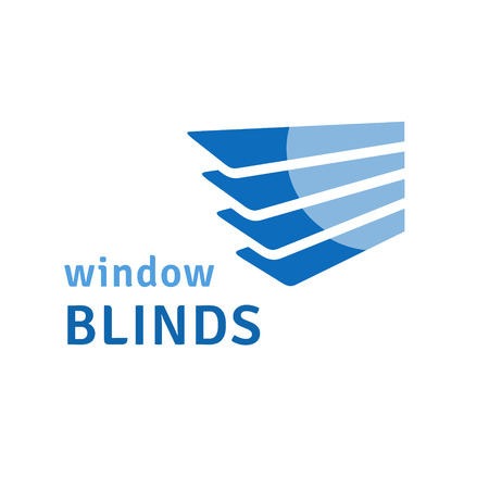 blinds: Window blinds logo Illustration