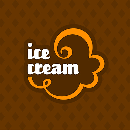ice cream scoop: Ice cream label