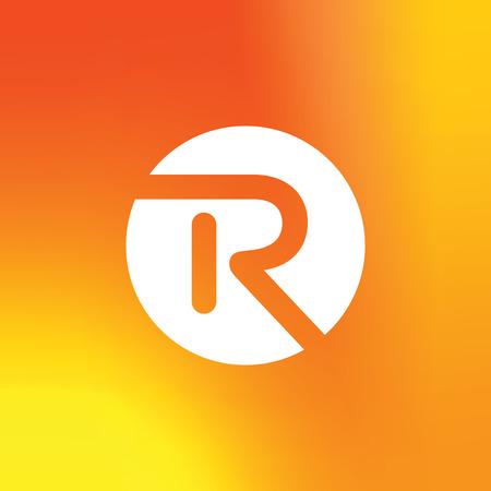 Vector Lettre R Logo Icon Design Elements Template. Logo