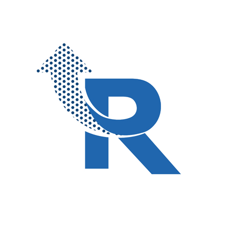 R: Letter R Logo Icon Design Template Elements. Vector letter symbol.