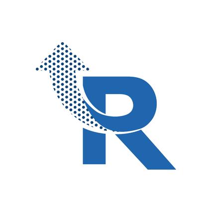 letter alphabet: Letter R Logo Icon Design Template Elements. Vector letter symbol.