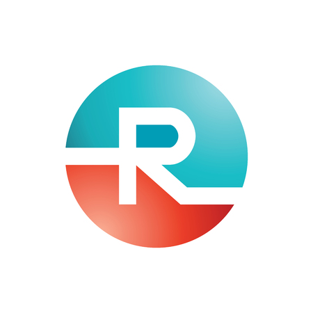 Abstract letter R logo design template. Vector letter symbol. 일러스트