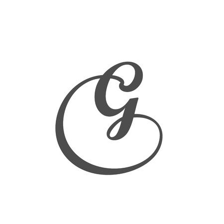 Vector Letter G Logo pictogram ontwerpelementen sjabloon.