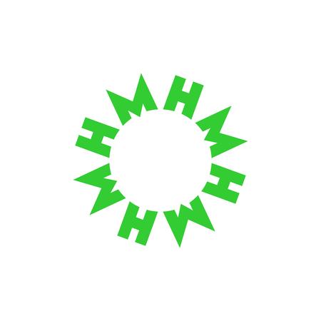 Simple line circle logo M letter. Vector Logo M. Vector Logo design.