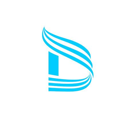 medical symbol: Vector Letter D Logo Icon Design Template Elements. Illustration