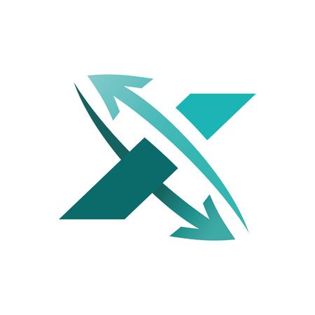 Business Corporate Letter X Logo Design Template.