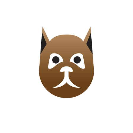 Logo for pet shop or animal clinic. Veterinary clinic logo design.
